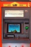 Macchina di BANCOMAT della Banca di ING Fotografia Stock