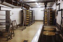 Macchina di fabbricazione del formaggio Fotografie Stock