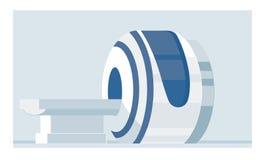 Macchina di imaging a risonanza magnetica isolata su fondo bianco Attrezzatura di scienza e medica Analizzatore medico di RMI Immagine Stock Libera da Diritti