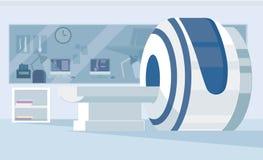 Macchina di imaging a risonanza magnetica isolata su fondo bianco Attrezzatura di scienza e medica Analizzatore medico di RMI Immagini Stock Libere da Diritti
