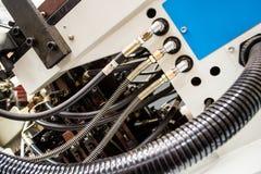 Macchina di industriale con i collegamenti del tubo flessibile Immagini Stock Libere da Diritti