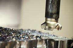 Macchina di macinazione di CNC ad industria del lavoro del metallo Precisione di Multitool che fabbrica e che lavora fotografia stock