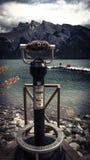 Macchina di Mountain View del lago glacier Immagini Stock