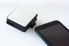 Macchina di MPos per il pagamento con lo smartphone Immagini Stock