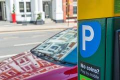 Macchina di parcheggio di paga Fotografia Stock Libera da Diritti