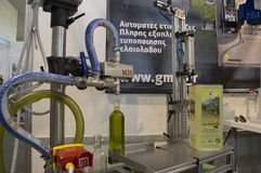 Macchina di produzione di petrolio di olio d'oliva Immagini Stock Libere da Diritti