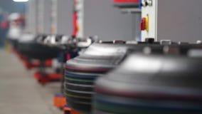 Macchina di produzione di Tiro stock footage