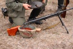 Macchina di riempimento della pistola immagine stock libera da diritti