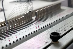 Macchina di rilegatura Apparecchiature di stampa e macchine fotografia stock
