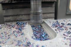 Macchina di verticale del metallo di CNC immagini stock
