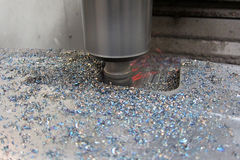 Macchina di verticale del metallo di CNC immagini stock libere da diritti