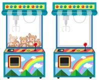 Macchina di videogioco arcade con le bambole Fotografia Stock