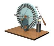 Macchina di Wimshurst con due barattoli di Leida illustrazione 3D del generatore elettrostatico fisica Esperimento delle aule di  Fotografia Stock
