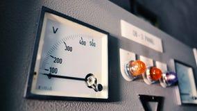 Macchina elettrica dell'amperometro e del voltometro fotografia stock