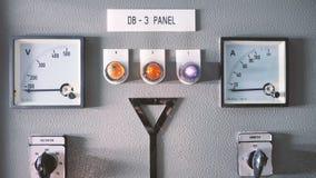 Macchina elettrica dell'amperometro e del voltometro fotografia stock libera da diritti