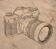 Macchina fotografica analogica della foto Fotografia Stock
