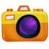 Macchina fotografica arancio Fotografia Stock