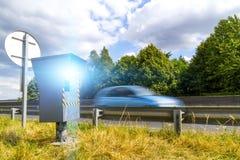 Macchina fotografica automatica di velocità Immagini Stock