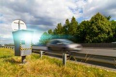 Macchina fotografica automatica di velocità Immagini Stock Libere da Diritti