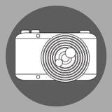 Macchina fotografica in bianco e nero della foto di vettore Fotografia Stock