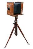 Macchina fotografica classica di legno Fotografia Stock