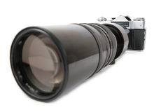 Macchina fotografica con il grande obiettivo 2 immagini stock libere da diritti