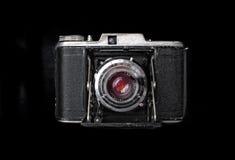 Macchina fotografica d'annata dalla vista superiore isolata Immagine Stock