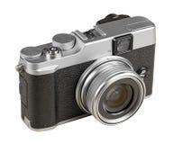 Macchina fotografica d'annata di stile del telemetro isolata su bianco Fotografia Stock