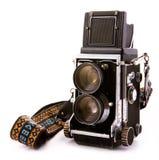 Macchina fotografica d'annata di TLR Immagine Stock