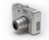 Macchina fotografica d'argento dello zoom Fotografie Stock Libere da Diritti