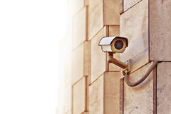 Macchina fotografica del CCTV di sicurezza immagini stock libere da diritti