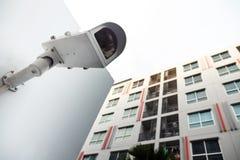 Macchina fotografica del CCTV di sicurezza Fotografie Stock