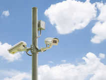 Macchina fotografica 3 del CCTV o della videocamera di sicurezza Immagini Stock Libere da Diritti