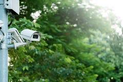 Macchina fotografica del CCTV o funzionamento di sorveglianza immagini stock libere da diritti