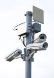 Macchina fotografica del CCTV o funzionamento di sorveglianza fotografia stock libera da diritti