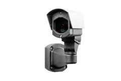 Macchina fotografica del CCTV sui precedenti bianchi Immagini Stock Libere da Diritti
