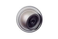 Macchina fotografica del CCTV sui precedenti bianchi Fotografie Stock
