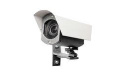 Macchina fotografica del CCTV sui precedenti bianchi Fotografia Stock Libera da Diritti