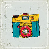 Macchina fotografica del disegno Immagine Stock