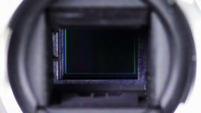 Macchina fotografica 3 del meccanismo DSLR dell'otturatore e dello specchio stock footage