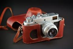 Macchina fotografica del Soviet dell'annata Fotografia Stock
