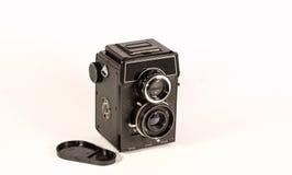 Macchina fotografica del telemetro dell'annata isolata sopra bianco Fotografia Stock Libera da Diritti