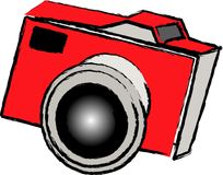 Macchina fotografica del vecchio banco Royalty Illustrazione gratis