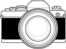 Macchina fotografica dell'annata 35mm Fotografie Stock Libere da Diritti