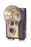 Macchina fotografica dell'annata con il flash Immagine Stock