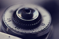 Macchina fotografica dell'annata del dettaglio fotografie stock