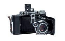 Macchina fotografica dell'annata isolata su un bianco Fotografia Stock Libera da Diritti