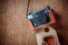 Macchina fotografica dell'annata 35mm SLR Immagini Stock