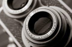 Macchina fotografica dell'annata TLR Immagine Stock