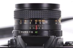 Macchina fotografica della pellicola di SLR Fotografie Stock Libere da Diritti